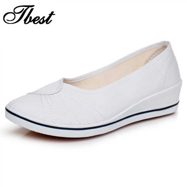 Весна и осень женщины работают обувь женщинам-бездельников белый черный комфортабельных ...