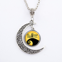 "Hot  Fashion ""We Are Meant Simple To Be"" Moonlight Gem Friends Lovers Gift Steampunk Glowing Cabochon Pendant Necklace"