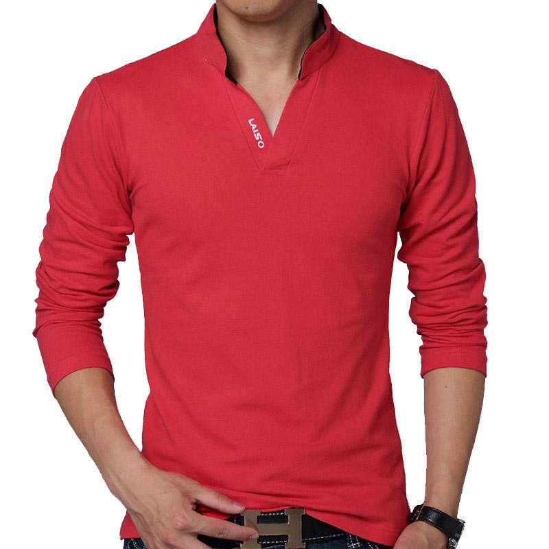Hot Sale New 2016 Fashion Brand Men polo shirt Solid Color Long-Sleeve Slim Fit Shirt Men Cotton polo Shirts Casual Shirts 5XL(China (Mainland))