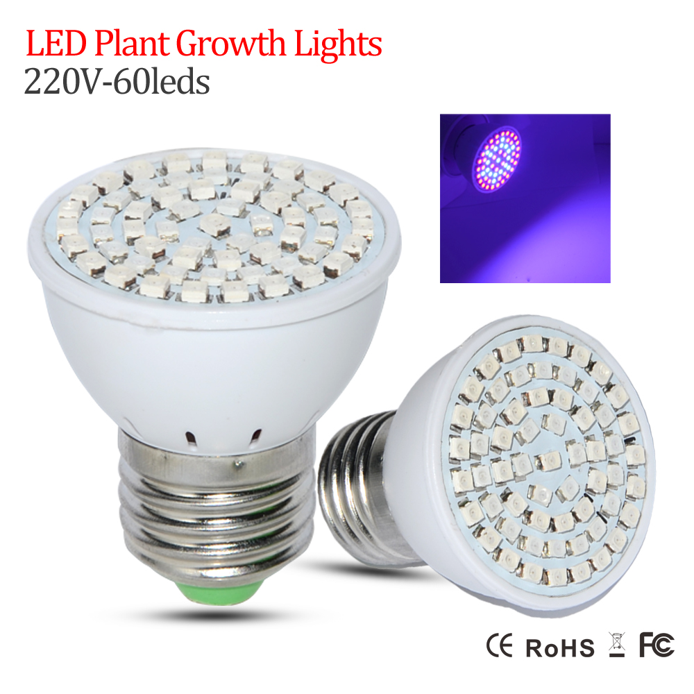 New LED Full Spectrum E27 60LEDs Faster Growth Lights 41 Red +19 Blue Led Grow Lamps Flowers Plant Hydroponics Lighting - Shenzhen KEENTOP Investment Industrial Co., Ltd. store