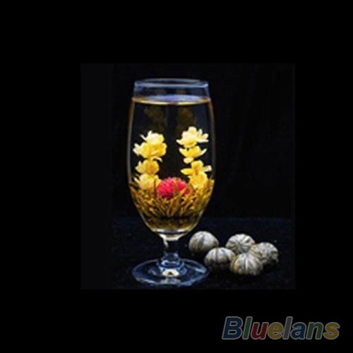 4 Balls Chinese Artisan Different Handmade Blooming Flower Green Tea 014F