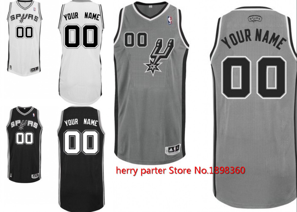 Kids san antonio spurs customized gray jersey nfldiscount for Custom t shirt printing san antonio