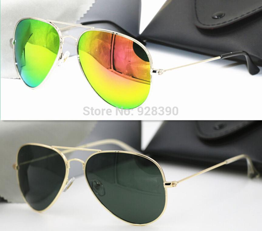 New Fashion Mirror RB Sunglasses Men Women Brand Designer Ray Aviator 3025 Sun Glasses Vintage With Logo Oculos De Sol Feminino(China (Mainland))
