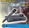 Professional Wireless Microphone System WR 206 Dual Handheld Mic With Receiver For Karaoke Stage KTV Singing