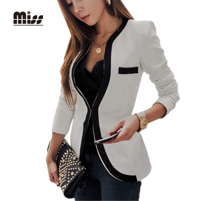 Collection Black And White Blazer Womens Pictures - Reikian