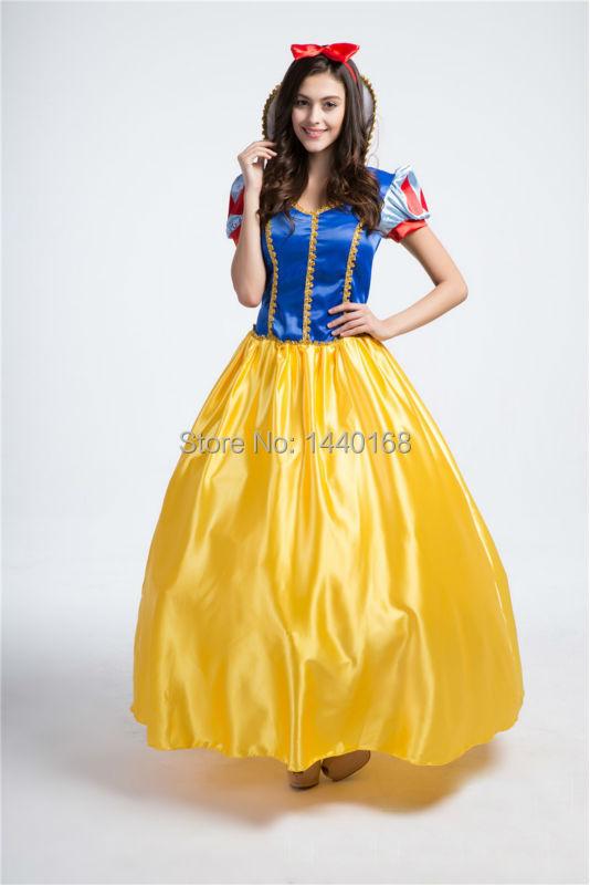 Adult Snow White Halloween Costume Sexy Snow White Costume Fantasia Halloween Costumes For Women Princess Dress(China (Mainland))