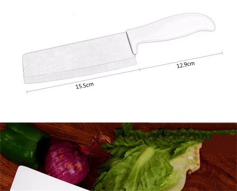 Buy 2016 new 6 inch ceramic kitchen knife slicing knife carving knife handle metal paint cheap