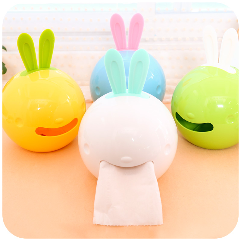 Bunny suckers-Web creativity cute stylish bathroom toilet tissue box cover/pulling the car out of paper tray(China (Mainland))