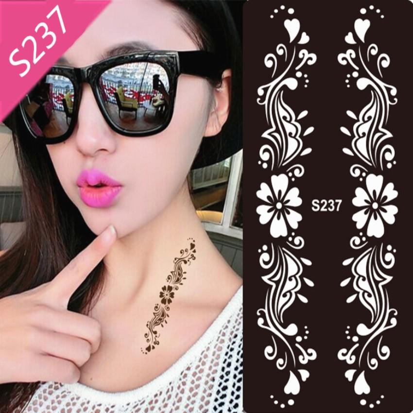 1pcs Mehndi Henna Tattoo Stencil Black Henna Tattoo for Body Paint Template Temporary Tatoo Stencils for Painting Kit