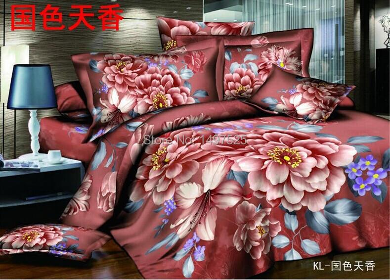 acheter 2015 new style pas cher impression 3d ensembles de li. Black Bedroom Furniture Sets. Home Design Ideas