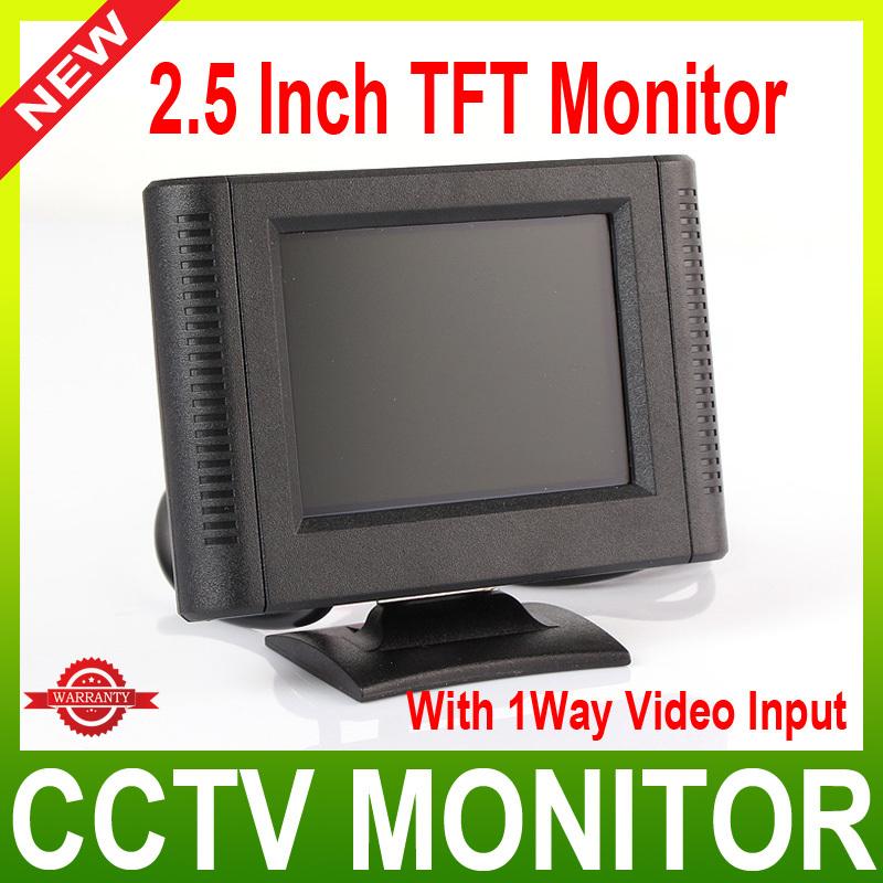 2.5 inch Digital TFT LCD Color Car Monitor,cctv camera Monitor with 1way video input(China (Mainland))