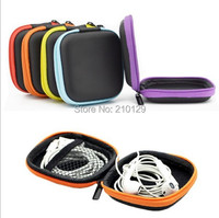 2015 New 70*70*10mm EVA Storage Bag box Carrying Hard Hold Case For Earphone Headphone Earbuds SD Card Square 5 Colors