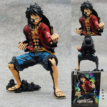 Hot ! NEW 1PCS18cm One piece black Monkey D Luffy action figure toys Christmas toy