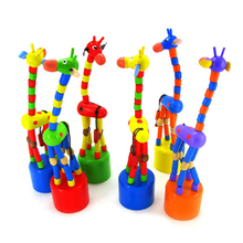 New Arrival Baby Funny Wooden Toys Developmental Dancing Standing Rocking Giraffe Animal Toys Multi Color(China (Mainland))