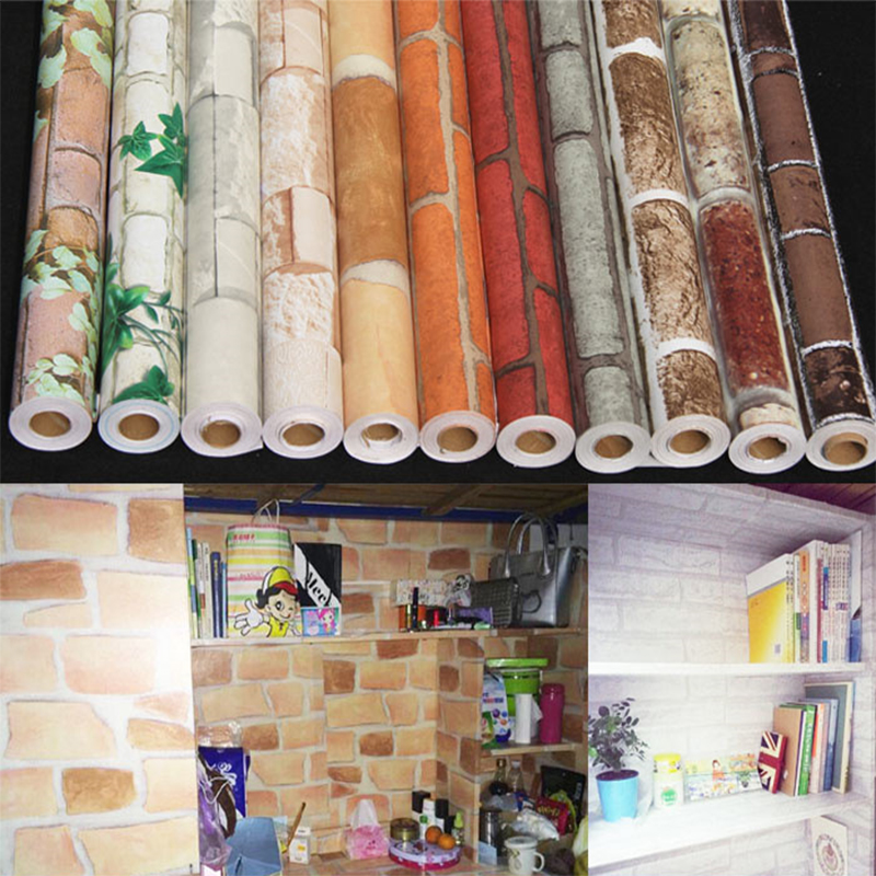 Diy decorative self adhesive wallpaper furniture for Adhesive covering for kitchen cabinets