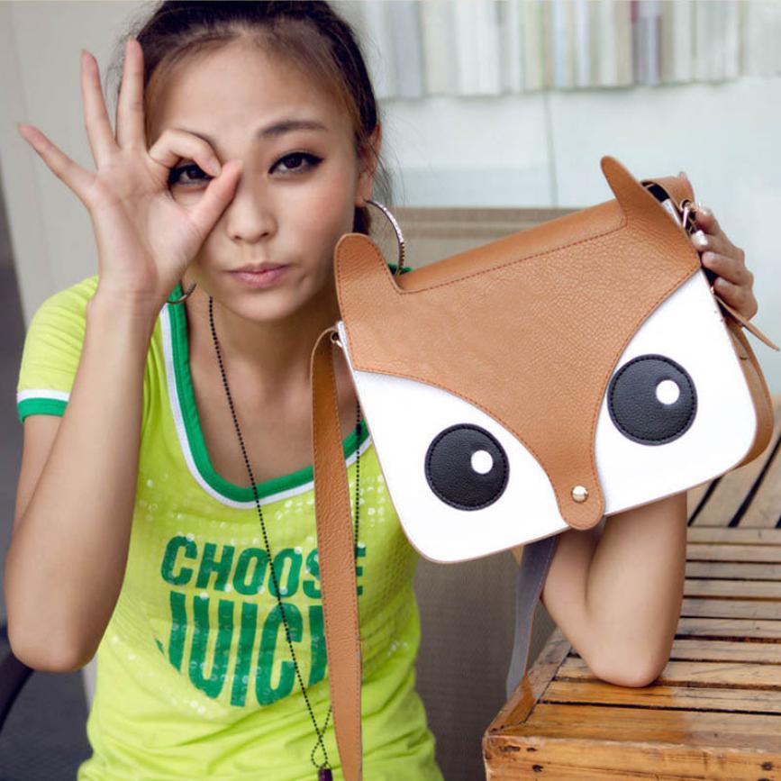 New Latest Fashion Cartoon Shoulder Bags For Girls Women Fox Pattern Handbags Women Shoulder Bag Female Cross Body Bag #EY(China (Mainland))