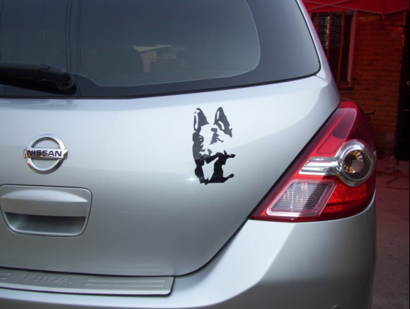 German Shepherd Dog Garland Pet car stickers vinyl decal decorate sticker for car and motorcycle(China (Mainland))
