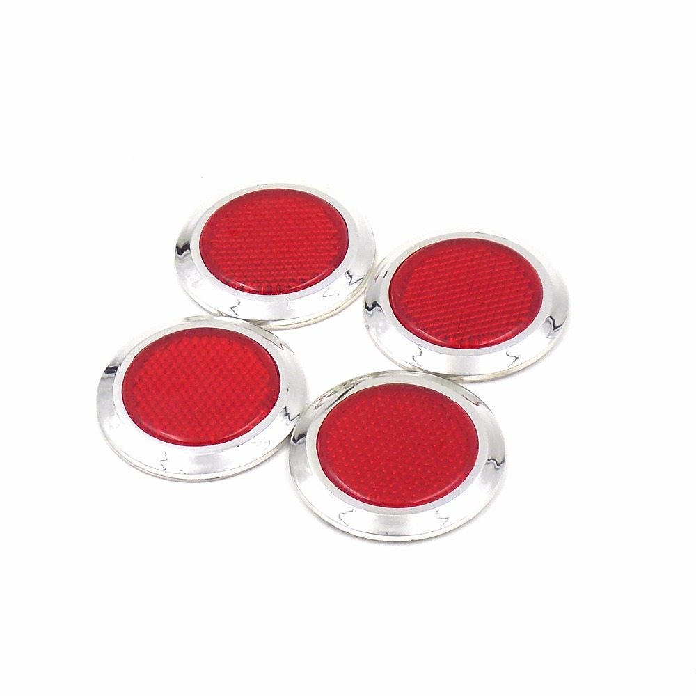 4 pcs/set Car Truck Construction vehicles Motorcycle Round Reflector Sheeting with double sided tape(China (Mainland))