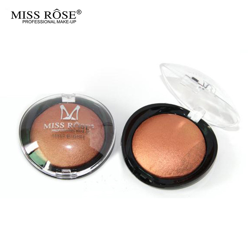 Miss Rose 2016 New Beauty Face Blush Powder Makeup Baked Cheek Color Bronzer Blusher Palette colorete Sleek Cosmetic Shadow - Shooter Shopping Store store