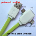 2 in 1 led usb cable Charging and data sync Applicable to asamsung galaxye mini s6
