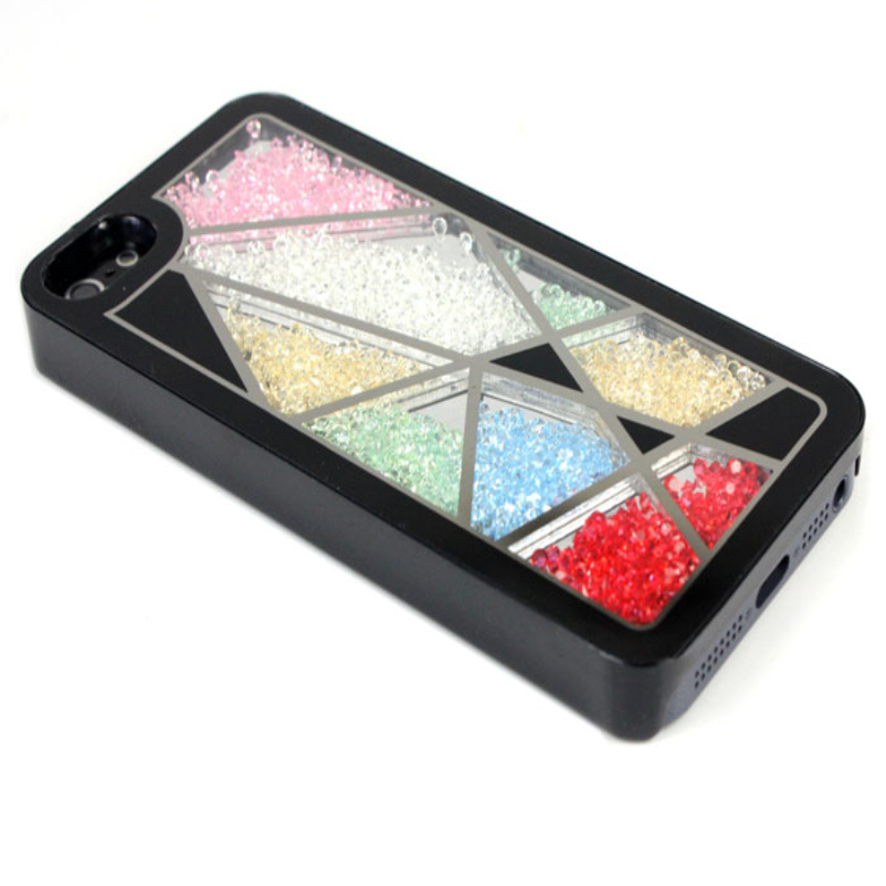 Hot Selling Hot Bird Nest Skin Swarovski Element Crystal Bling Cover Case For iPhone 5 Black 1pc(China (Mainland))