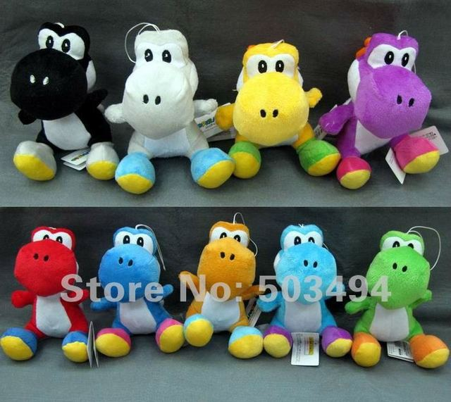 Yoshi Plush doll super mario bros toys 9 colors 6 inch Free Shipping 45/LOT