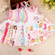 baby dress baby girl dress summer girls clothes baby vest christmas  8569(China (Mainland))