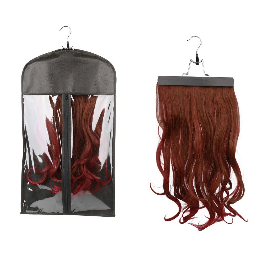 Hair Extension Carrier Storage - Case Bag and Hanger, Wig Stands, Hair Extensions Hanger, Hair Extensions Bag, Customized Logo(China (Mainland))