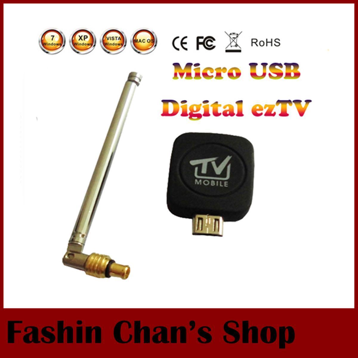 Super Mini Micro USB DVB-T ISDB-T Digital Mobile Streamer ez TV Tuner Receiver Stick for Android/Phone/Ipad table,Freeshipping(China (Mainland))