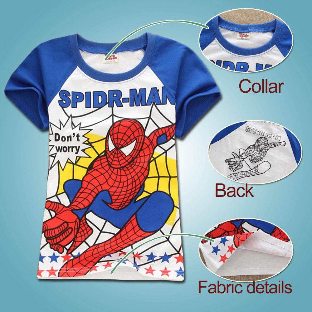 free shipping new 2015 fashion 2-7 year old boys tshirts cartoon child tshirt summer short-sleeve 100% full cotton short sleeve(China (Mainland))
