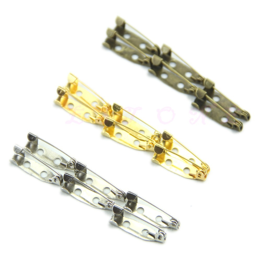 New Arrive 100pcs/lot 20mm DIY Safety Pins Brooch Jewelry Accessory 3Colors(China (Mainland))