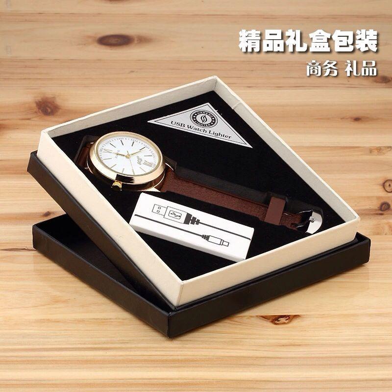 ถูก ขายส่งแฟชั่นนาฬิกาสไตล์USBชาร์จไฟแช็บุหรี่อิเล็กทรอนิกส์เบา