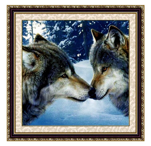 Рукоделие DIY Волк вышивка крестом, набор Для Вышивания, волк животных шаблон Графа Креста комплект Стежка декоративная живопись