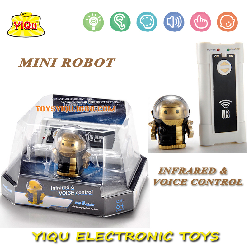 RC Robot Toys best Christmas gift New remote control & sound control robot mini intelligent infrared control robot(China (Mainland))