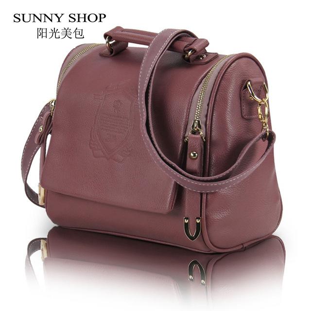 SUNNY SHOP Korea Fashion Women Handbag PU Leather Ladies Hand Bag Shoulder Bag Cross Body Bags Women Wholesale