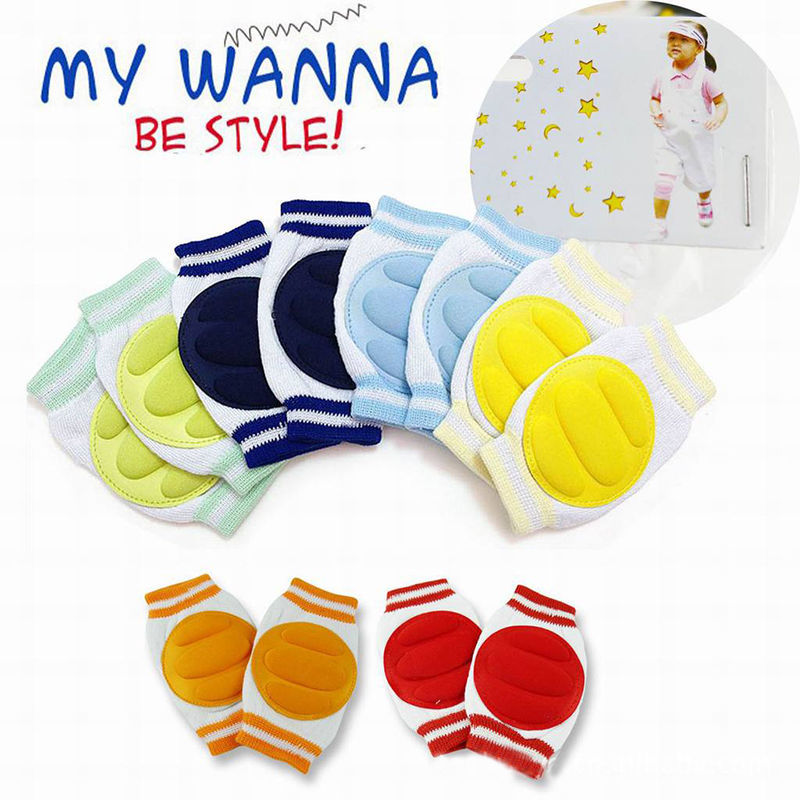 Stylish 1 Pair Kids Safety Crawling Elbow Cushion Infants Toddlers Baby Knee Pads Protector Leg Warmers