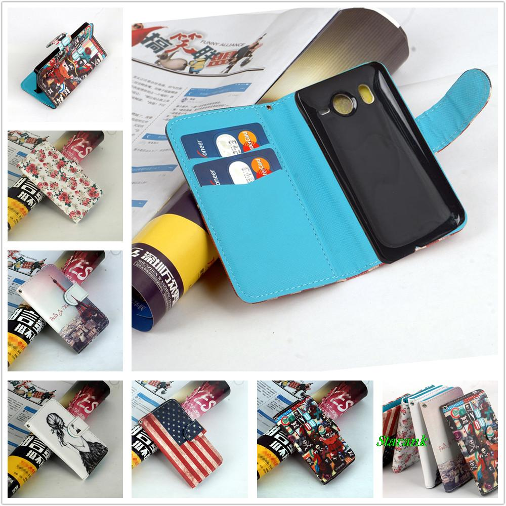 Luxury New design pattern flip Leather Case for HTC Desire HD G10 free shipping(China (Mainland))