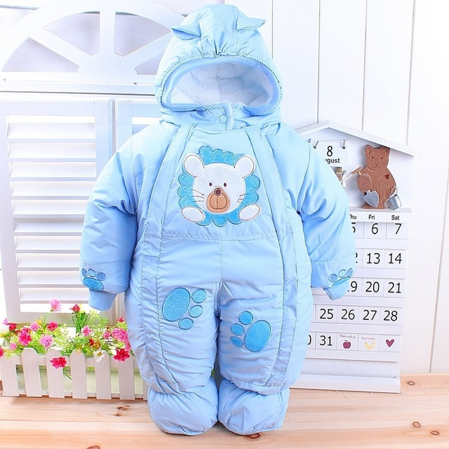 Retail Baby Romper newborn baby winter wadded jacket cotton-padded jacket infant year old autumn and winter child romper