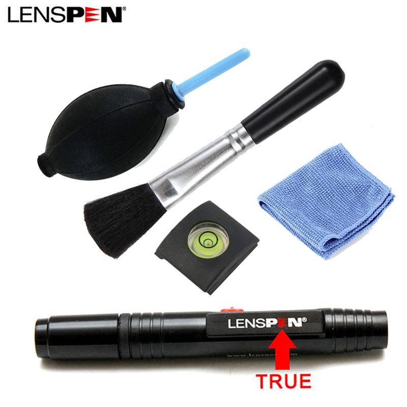 5 in 1 LENSPEN Dust Cleaner Camera Cleaning Lens Pen Brush Lint-free Wipes Air Blower Kit For Canon Nikon Sony Spirit Hot Shoe