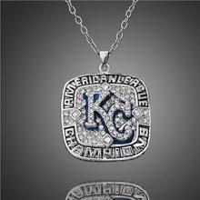 2015 Kansas City Royals Champion Necklaces Pendants Major Baseball Championship Necklaces Classic Collection Jewelry(China (Mainland))