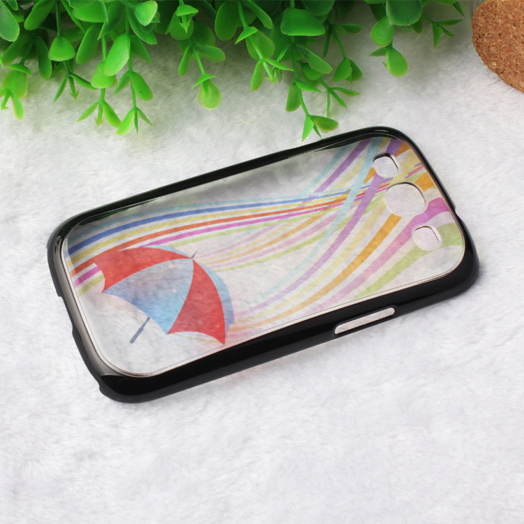 2014 New arrive beautiful shell cover Samsung S3 SIII 9300 case Transparent Colorful Umbrella cell phone cases covers - Shop1372007 Store store