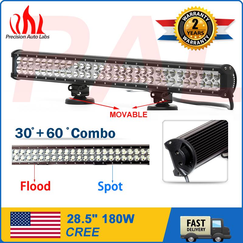 28INCH 180W CREE LED LIGHT BAR FLOOD SPOT OFFROAD DRIVING LAMP 4WD SUV Truck ATV(China (Mainland))