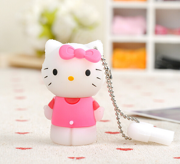 Hello Kitty Usb Flash Drive 64gb Pen Drive 32gb Pendrive 4gb 8gb 16gb Cartoon U Disk Flash Card hot sale Memory stick(China (Mainland))