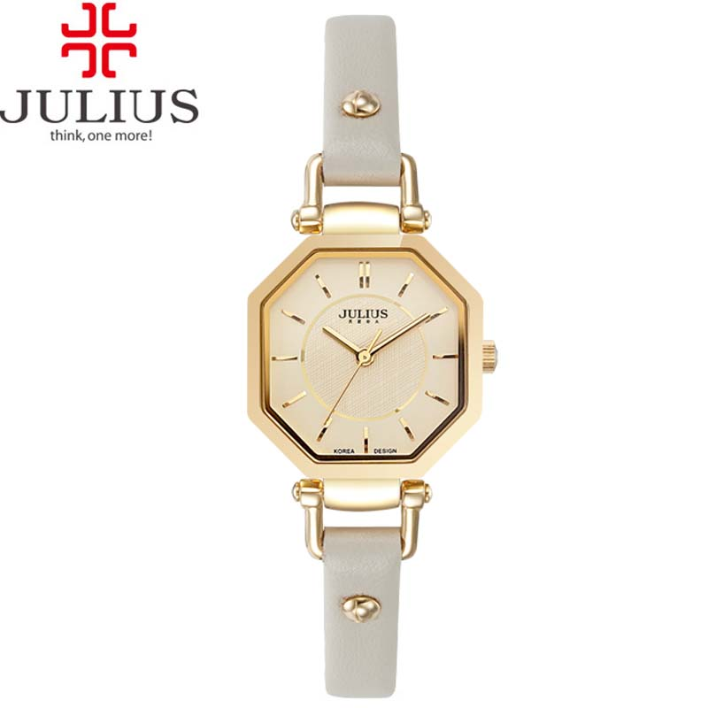 Julius Women's Lady Wrist Watch Modern Classic Fashion Hours Dress Simple Retro Leather OL Girl Birthday Lovers Mother's Gift - Miao's Variety Shop store