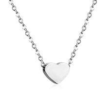 LUXUKISSKIDS wisiorki serca naszyjniki naszyjnik choker ze stali nierdzewnej Link Chain złoty kobiety/mężczyźni naszyjnik zestaw modna biżuteria collares collier(China)