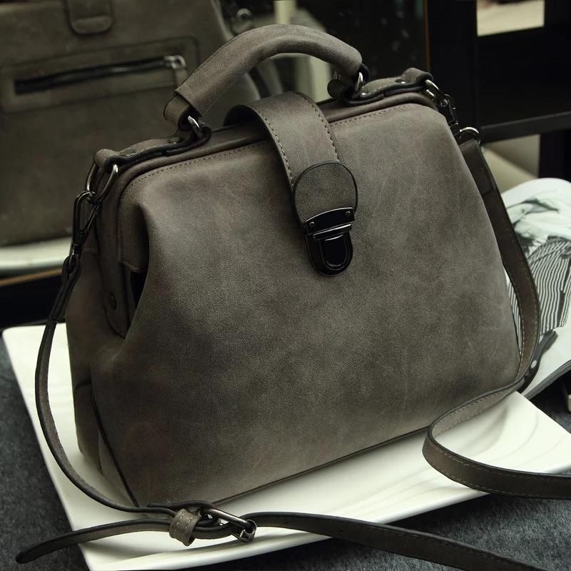Hot 2015 new women's genuine leather messenger bag scrub dimond plaid vintage doctor bag fashion women handbag(China (Mainland))