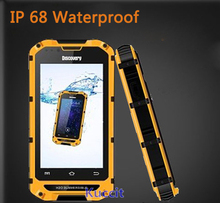 New version original Discovery V6+ MTK6572 Dual Core Android rugged Smartphone IP68 Waterproof phone Shockproof 3G GPS Z6 A8 V5