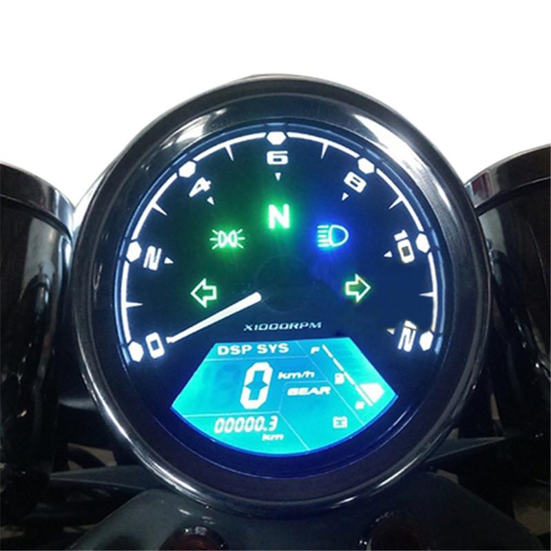 Digital Odometer Gauge : Piece universal rmp lcd digital speedometer odometer