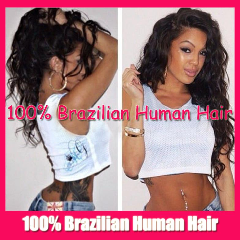 Stock Wig Free Style Curly Wavy 100% Virgin human real Hair Natural Full Lace wig / Glueless Front Wigs Black Women - Fashion Beauty Mall store