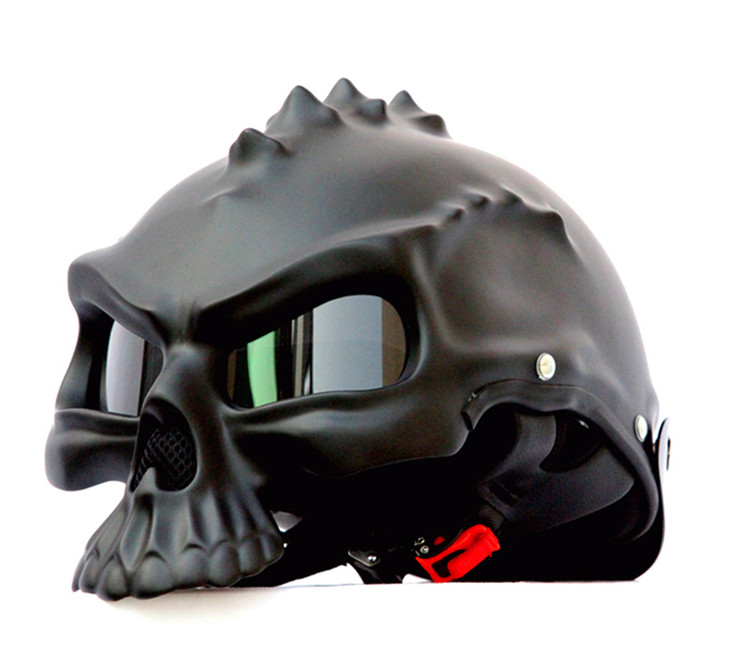 masei Newest Dual Use Skull Motorcycle Helmet Capacetes Casco Novelty Retro Casque Motorbike Half Face Helmet free shipping(China (Mainland))